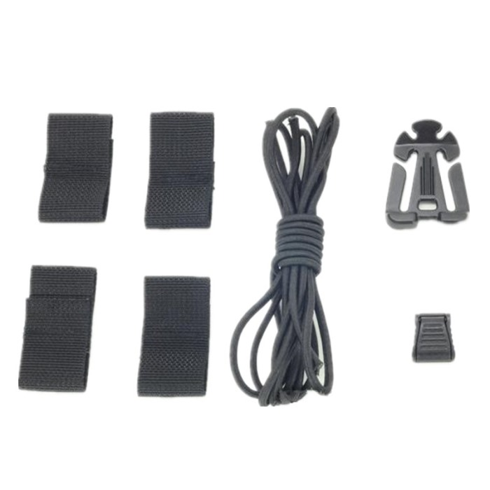 Sport Cable Helmet System Special Rope Helmet DIY Deck Set Black