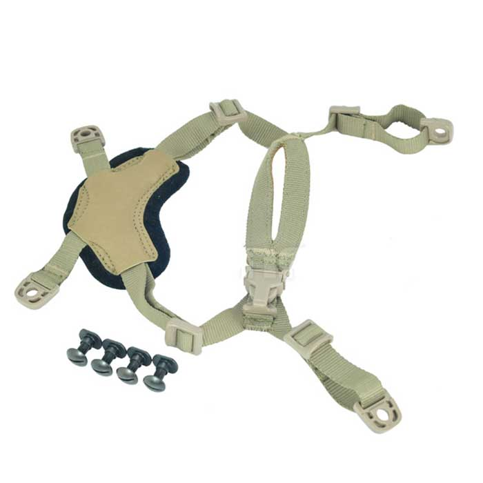 Tactical OPS Helmet Suspension CORE ACH Head-Loc Retention System DE