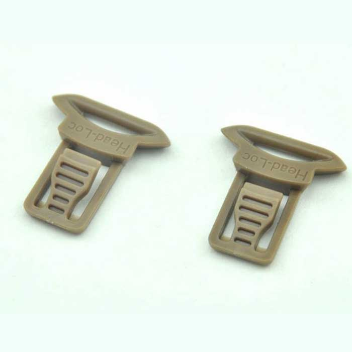 Goggle Swivel Clips 15mm Airsoft helmet side mount Tan