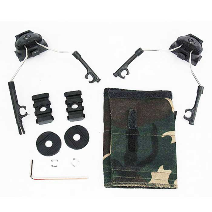 Tactical Helmet Rail Adapter Set for Comtac I/II Headset Helmet Tool
