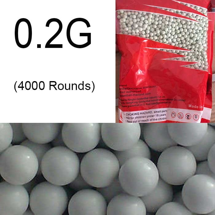 Airsoft 6mm BB 0.2g Precision Pellets bbs Ammo Pellets 4000rd