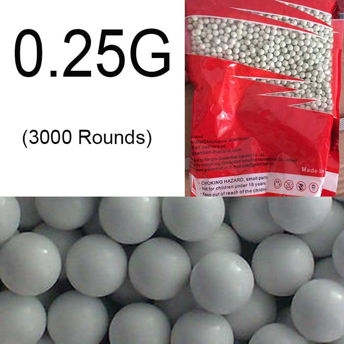 Airsoft 6mm 0.25g Plastic Hardness BB(3000rd) Premuim Ammo
