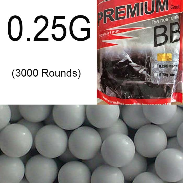 Airsoft BB 0.25g Precision PELLETS Premuim Ammo 3000rd Glow