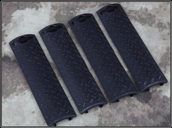 Airsoft Tactical ERGO Diamond Plate Rail Cover BLACK