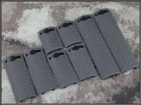 Tactical ERGO Diamond Plate Rail Cover 8 pcs Set FG GREEN