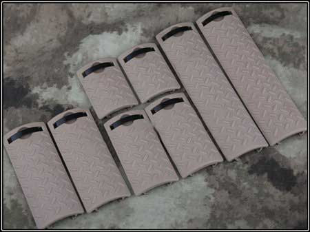 Tactical ERGO Diamond Plate Rail Cover 8 pcs Set TAN