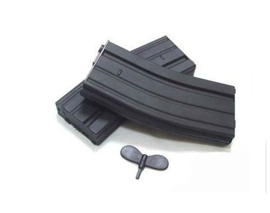 Airsoft BB Magazine Clip 300 RD Metal M4 M16