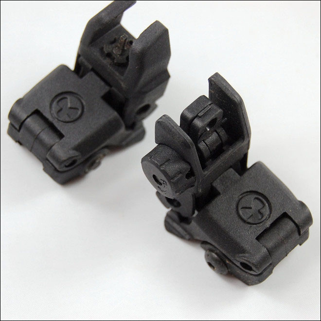 MP MBUS Back Up Front and Rear Sight Black