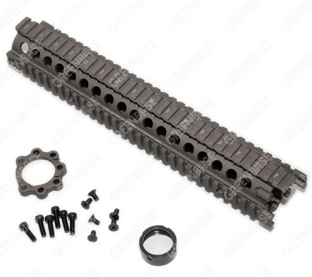 MK18 12.6 inch Handguard Rail System Dark Coyote Brown