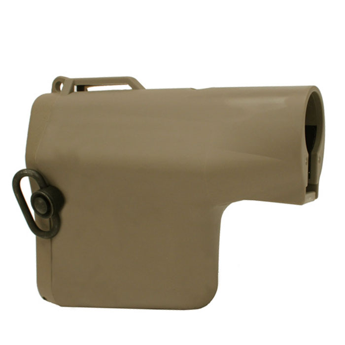 Tactical Troy Battle Ax Style CQB Stock QD Swivel Sockets TAN