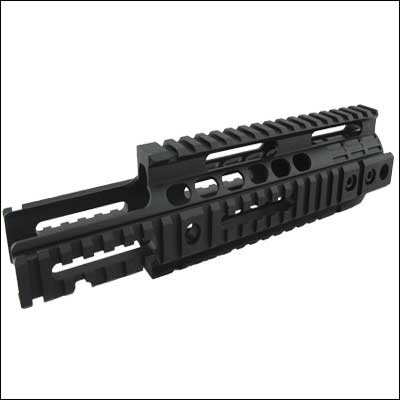 Tactical quad rail handguard 250mm length Rail System