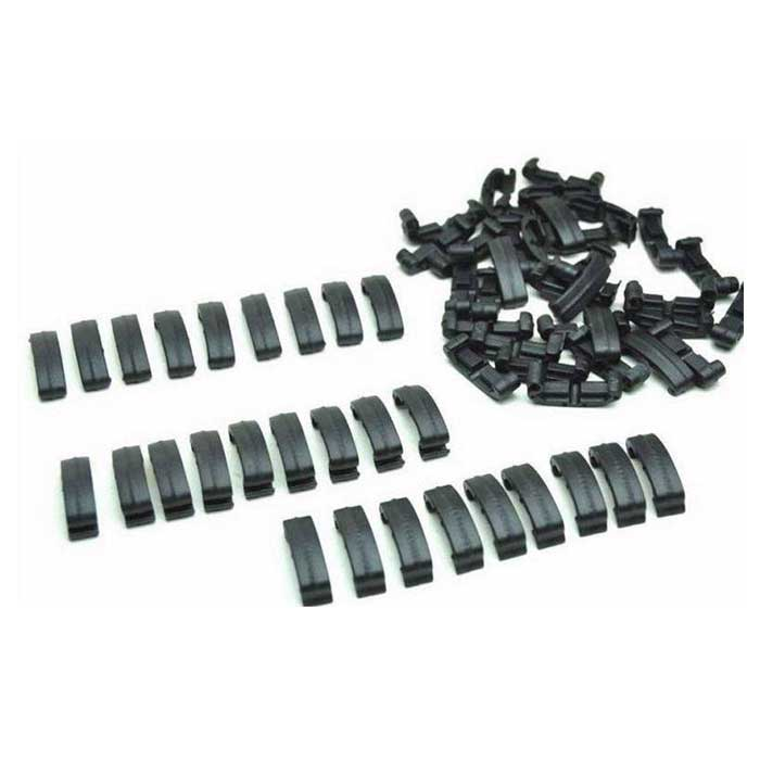 60 Pieces Set Clips Adapter Rail Covers Tactical Handguard Index BK