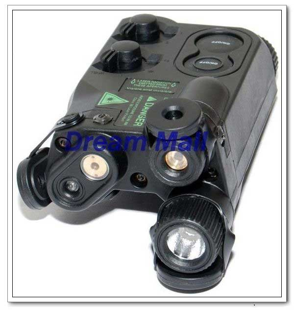PEQ-16 box with red/green light and LED illuminator (Black)