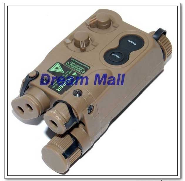 PEQ-16 Box with red/green light and LED illuminator (Tan)