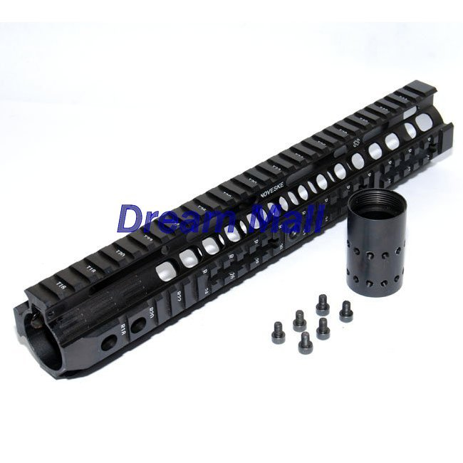 Tactical NOVESKE 12.6 inch Black Handguard Rail System Parts