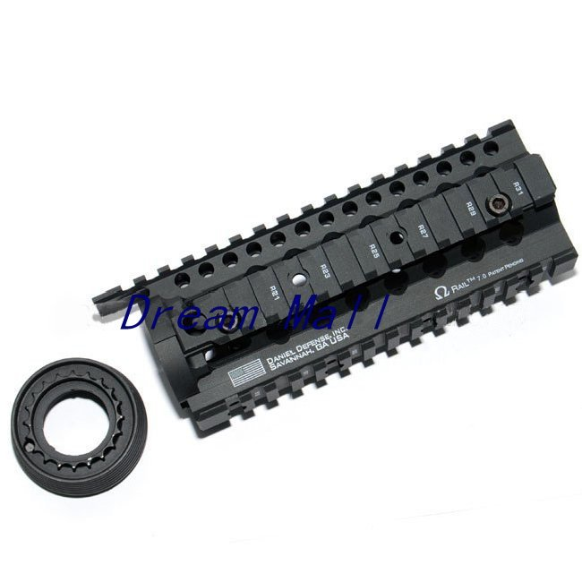 Airsoft 7 inch Hand Guard Rail System Black Parts