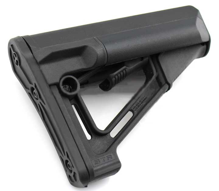 MP STR Carbine Stock for M4/M16 Airsoft Rifle (BK)