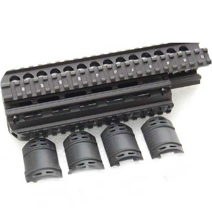 Tactical 9.5 inch Saiga Quad Rail System(AUS-HGSG39) - Click Image to Close
