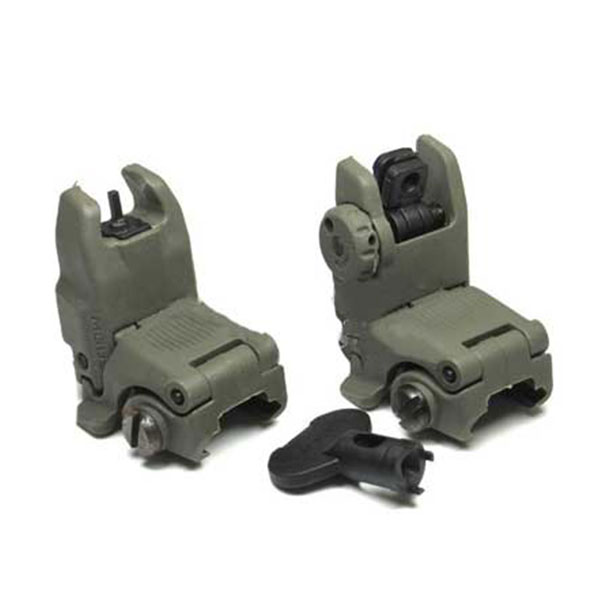 FA Tactical PTS Gen2 Front & Rear Sight Set Flip Up Back Up Sight FG
