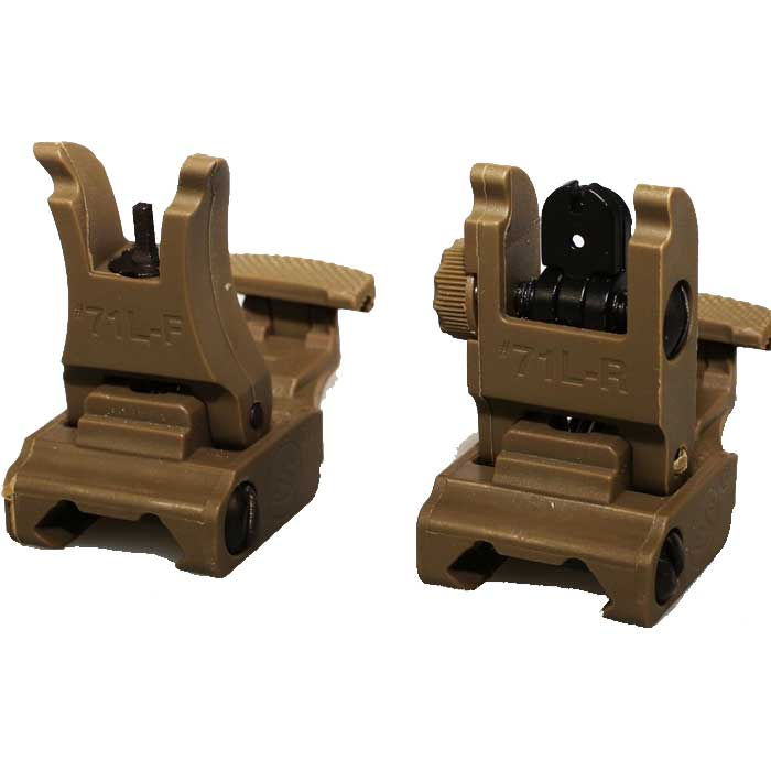 ARMS 71L Front and Rear Sights Set Flip-Up Airsoft Tactical Sight