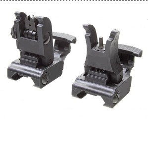 71L Front and Rear Sight Flip-Up Folding Tactical Iron Sight Black