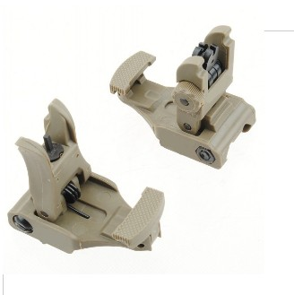 Tactical ARMS 71L Front and Rear Sights Set Flip-Up Iron Sight DE