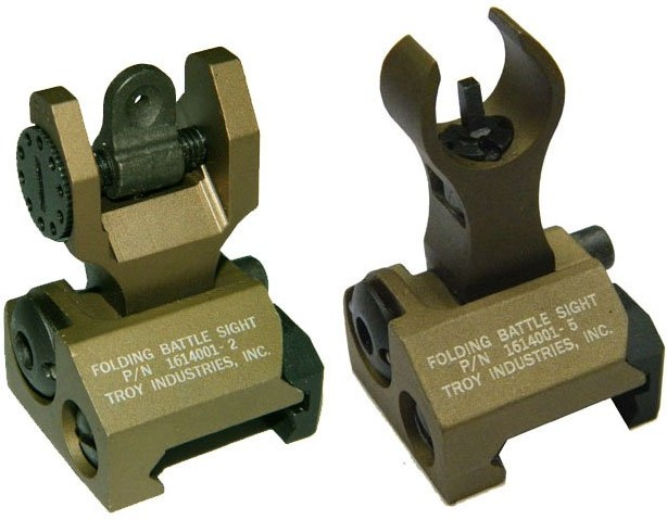 Troy BattleSight Rear Folding Troy Front Rear Folding Sight DE