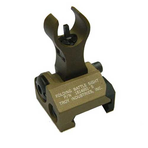 AEG Airsoft Troy Folding Up Metal Front Rear Sight Fit 20mm Rail