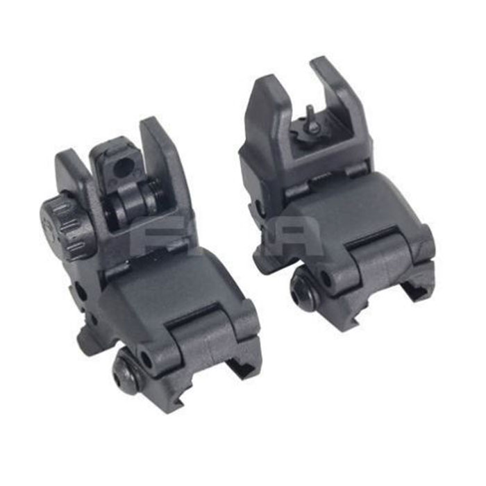 FA Tactical PTS Gen1 Polymer FrontRear Backup Folding Sight BLACK