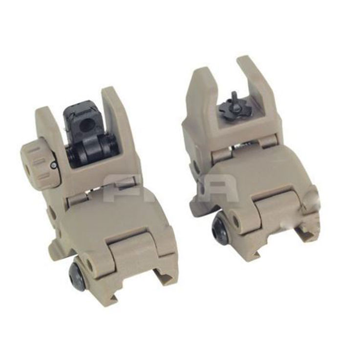 FA Tactical PTS Gen1 Polymer FrontRear Backup Folding Sight DE