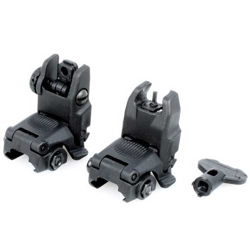 FA PTS Gen2 Front & Rear Sight Folding Back-up Iron Sight BK