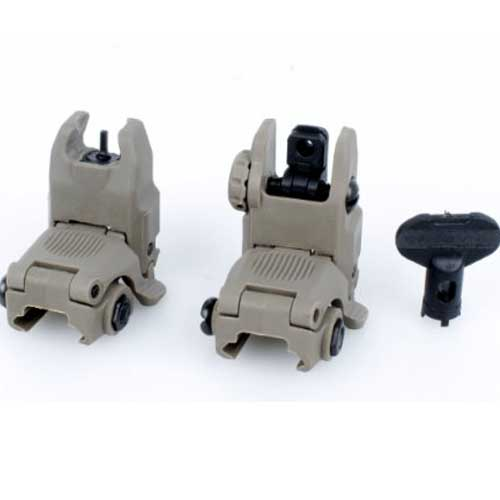 FA PTS Gen2 Latches Folding Sight Front & Rear Sight DE