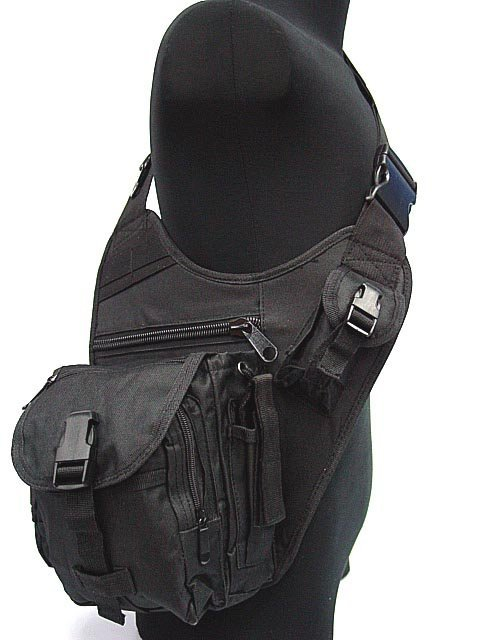 Military Tactical Sling Airborne Universal Utility Shoulder Bags BK