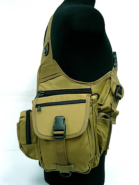 Military Tactical Nylon Wading Chest Pack Sling Single Shoulder Bags