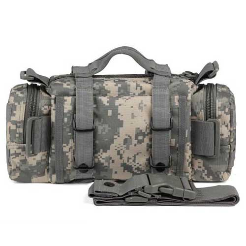 Airsoft Mix Utility Tactical Waist Bag Hand Pack with Long Strap ACU