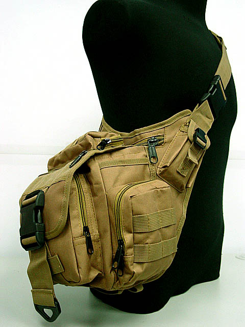Messenger Airsoft Outdoor Sport Camping Hiking Trekking Sling Bag DE