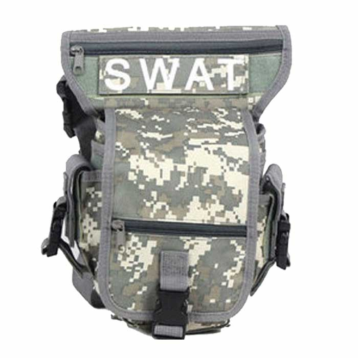 SWAT Drop Leg Utility Waist Pouch Carrier Thigh Bag Fanny Pack ACU