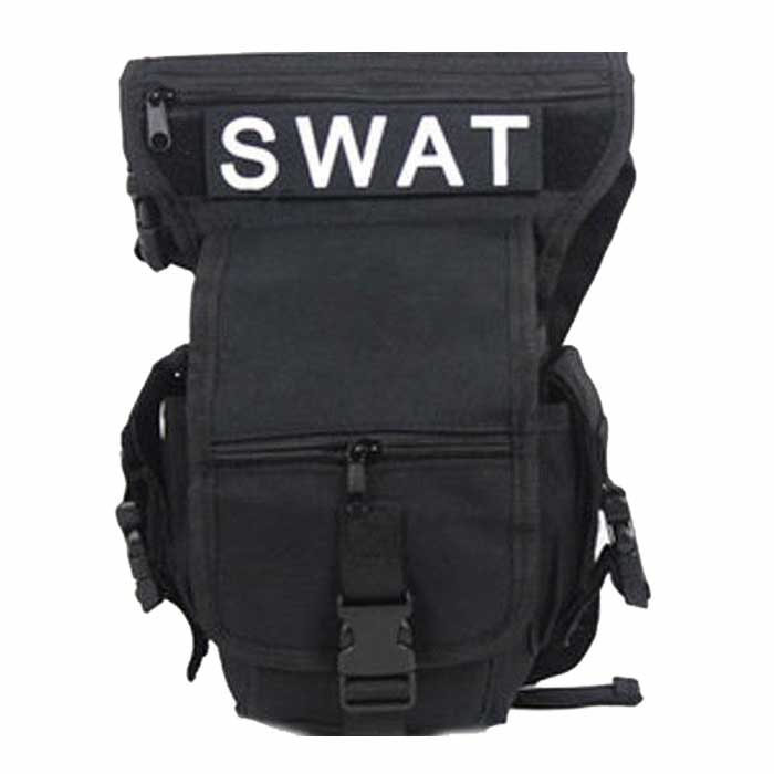SWAT Drop Leg Utility Waist Pouch Carrier Thigh Bag Fanny Pack BK