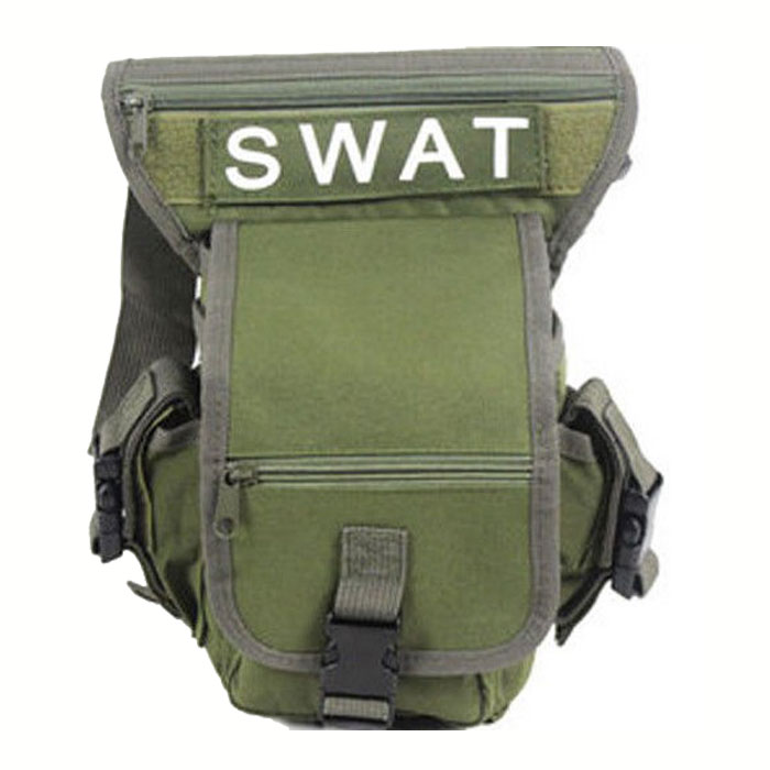 SWAT Nylon Utility Tactical Drop Leg Panel Thigh Pouch Hoster Waist