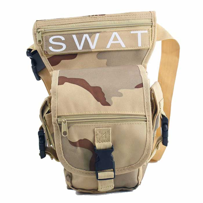 SWAT Tactical Military Drop Leg Bag Panel Utility Waist Belt Pouch B