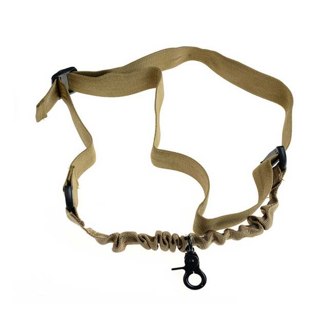 1 Point Sling Military Tactical Bungee Single Rifle Gun Sling DE