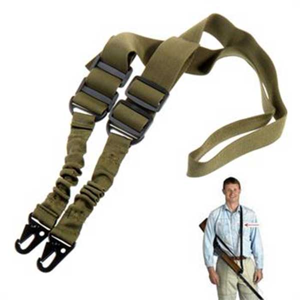 2 Point Adjustable Tactical Rifle Gun Multi Sling System AR15 M4 OD