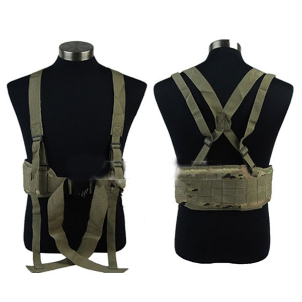 Molle Tactical Combat Padded Waist Belt Military Army Battle Belt CP