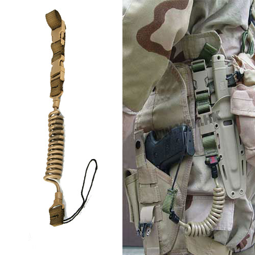 Battle Tactical Military Gun Sling Rapid Reaction Spring Belt DE