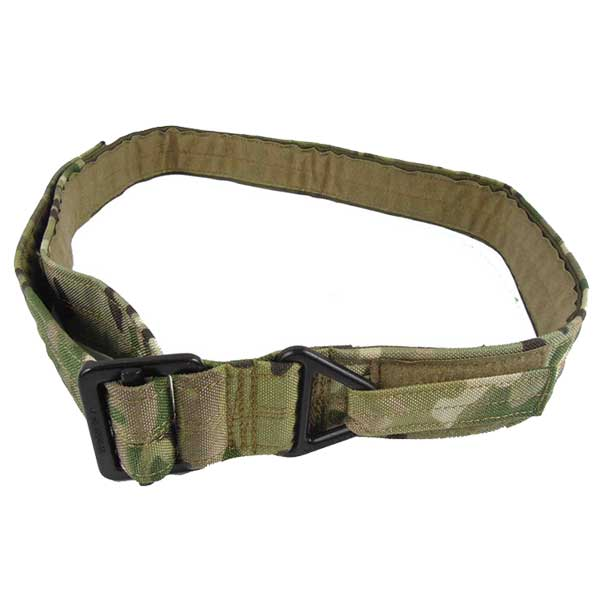 Tactical Military Cordura Fabric Rescue Rigger Combat Duty Belt CP