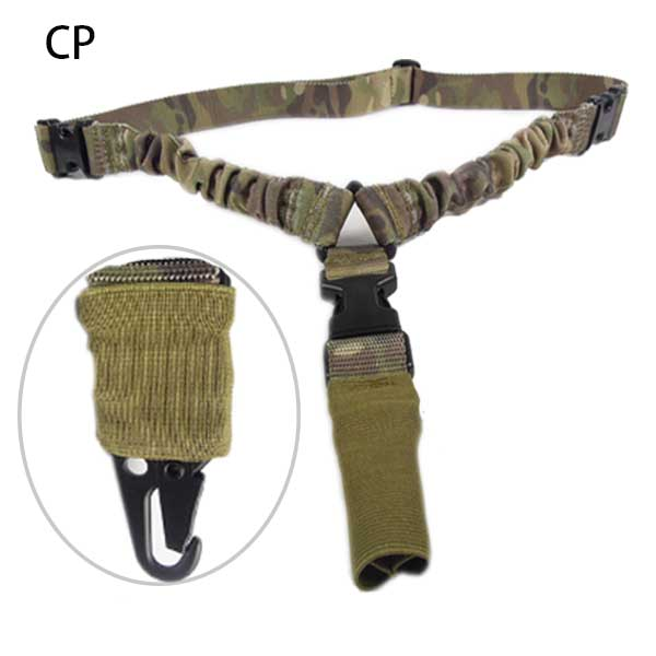 Airsoft Quick Release US System Tactical Sling Strap Mount Bungee CP