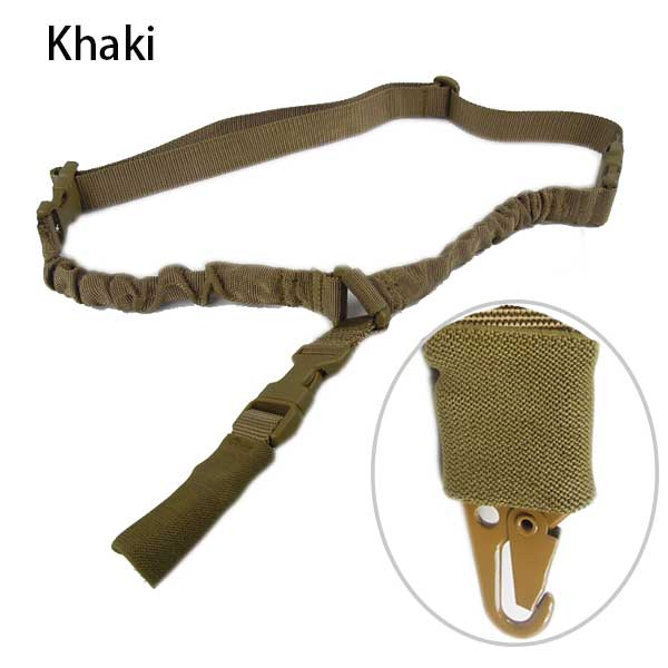 Airsoft Quick Release Multifunctional Bungee Rifle Gun Sling DE