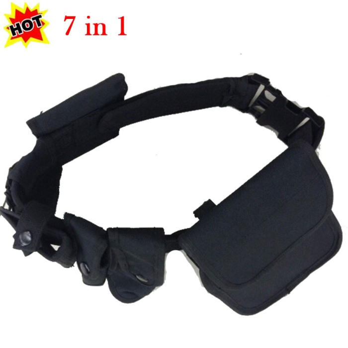 7in1 Set Tactical Duty Belt Airsoft Training Police Security Guard