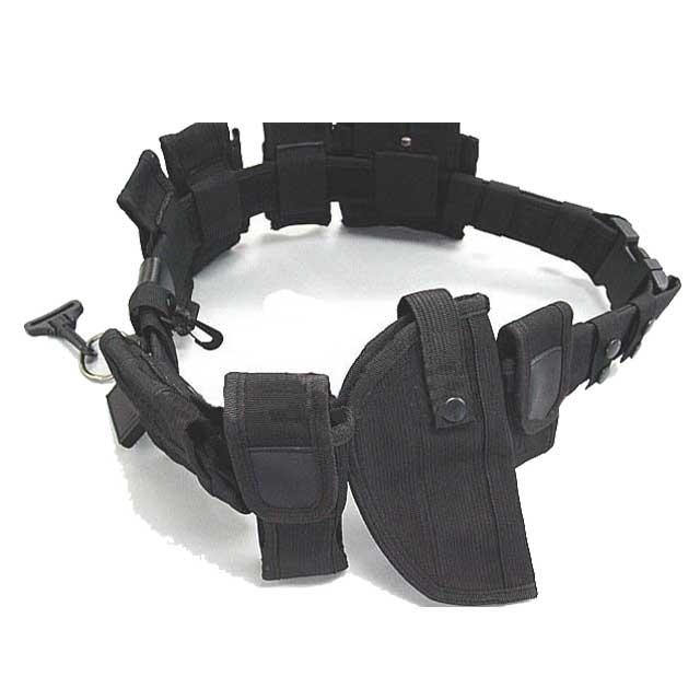 Police Officer Guard Law Utility Kit Nylon Duty Belt w/ Pouch System