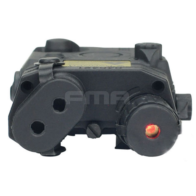 AN/PEQ 15 LA-5 Battery Airsoft Tactical Box Model & Red Laser BK